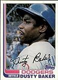 1982 Topps Baseball Card #375 Dusty Baker