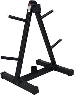 WSJTT Standard Weight Plate Tree, Barbell Plates A Frame Rack Standard Weight Plates Storage Stand