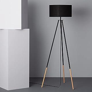LEDKIA LIGHTING Lampadaire Kathathu 1415x550x550 mm Noir E27 Métal pour Décoration Salon, Chambre, Cuisine