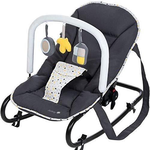 Safety 1st Koala Gandulita reclinable para bebé con funcion mecedora, Hamaca con arco de juego, ligera y compacta, color Warm Gray