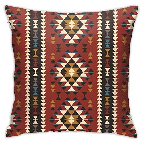 iksrgfvb Fundas de Cojines Fundas de Cojines decoración Nativo suroeste Americano Indio Azteca Navajo Imprimir en el sofá Cama del Coche 45X45 CM