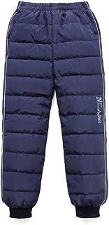 HOSD Pantalones de plumón para niños Que engrosan los niños Usan Pantalones cálidos para niñas más Terciopelo niños Grande...