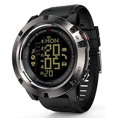 AIMAISEN Reloj Deportivo electrónico Reloj de Pulsera multifunción Digital Impermeable con brújula calorías podómetro cronómetro Monitor de Ritmo cardíaco/sueño para Android e iOS (Purple)