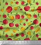 Soimoi Grun Baumwolle Batist Stoff mischen Obst Stoff