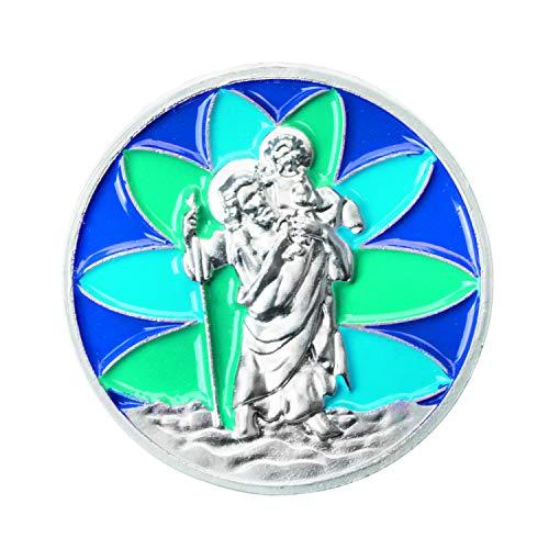 Fritz Cox® Automedaille Christophorus 'Mosaik' in blau-türkis