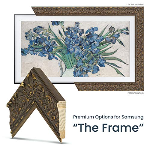 Best Deals! Deco TV Frames - Tuscan Antique Gold Frame Custom Fore for Any Size Samsung The Frame TV...