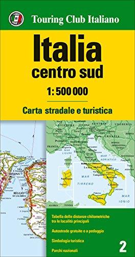 Italia centro sud 1:500.000. Carta stradale e turistica [Lingua inglese]