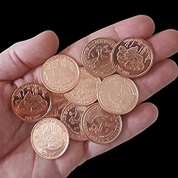 ZFG Inc Zero F s Given Giftable Novelty Quarter Coins Color Copper Give One Shit 10-Pack
