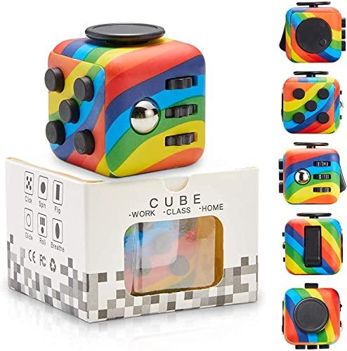 Yetech Rainbow Jouets de décompression, Anti-Stress Toy Stress Cube pour Enfants et Adultes