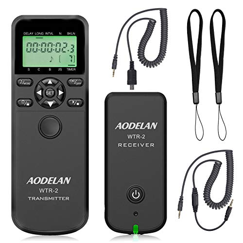 AODELAN Camera Wireless Timer Remote Control with Intervalometer Wired Shutter Release Cable for Panasonic GH5 G1GH1GH2 GH5 G85 GX7 GX8 FZ2500 FZ200 FZ1000 FZ200 FZ150 Cameras and for Olympus Cameras
