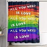LongTrade Cortina de la Ducha Gay Pride Adult Love Decoration Ornament for Bathroom Shower Curtain Shower Room Home Print Pattern Set 60x72 Inch
