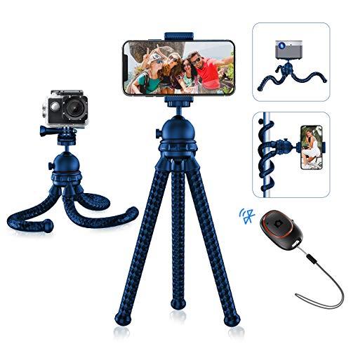 Mpow Handystativ, flexibles Monkey Stativ mit Bluetooth 5.0-Fernauslöser und 360 ° -Drehung, tragbarer Kamerastativständer für Vlog, kompatibel mit Smartphone, Kamera, GoPro (Adapter enthalten)