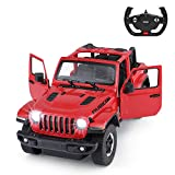 Rastar Off-Road Remote Control Car, 1:14 Jeep Wrangler JL RC Off-Road Racing Vehicle Toy Car for Kids Adults, Spring Suspension/Door Open, 2.4Ghz RED