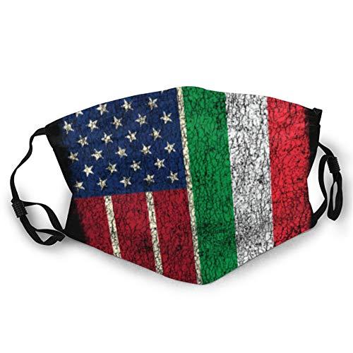 DearLord Ma_sks - Camiseta unisex con diseño de la bandera italiana de Estados Unidos, 4 de julio, transpirable, lavable y reutilizable, para adolescentes y adultos, uso diario