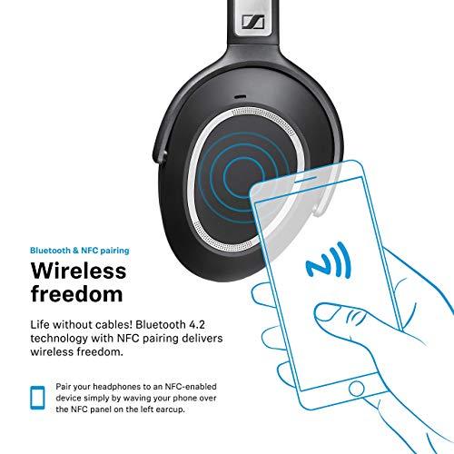 Sennheiser PXC 550 Cuffia Wireless da Viaggio con Cancellazione del Rumore Adattiva, Nero