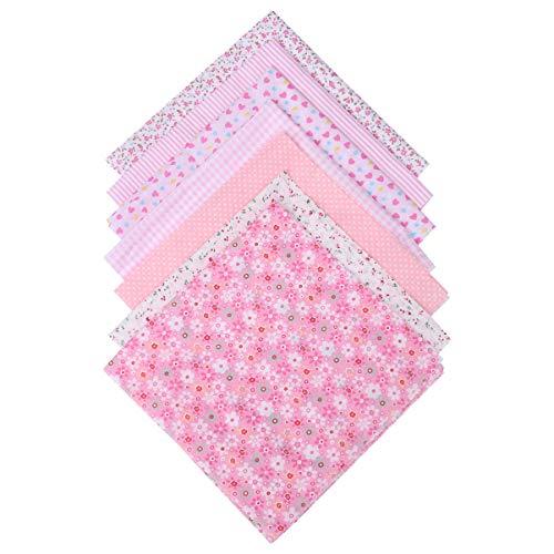 Artibetter 7 Piezas de Tela Floral Mosaico Hecho a Mano Cuadrados de Algodón Paquetes para Bricolaje Ropa Artesanal Acolchado Costura Scrapbooking 50X50 Cm