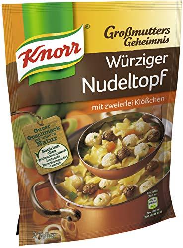 Knorr Großmutters Geheimnis Eintopf (für die schnelle Zubereitung Würziger Nudeltopf mit zweierlei Klößchen) 9 x 72 g
