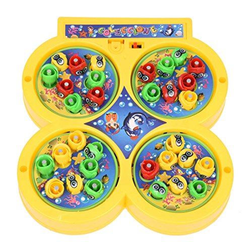 Dcolor Plateau Fishing Game Fish on Line Magnetic Educational Toy for Kids Baby