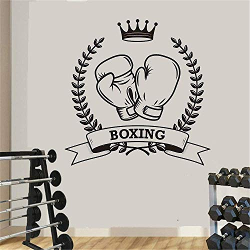 Boxhandschuhe Aufkleber Kick Boxer Play Decal Actual Combat Poster Vinyl Striker Wandtattoo Muster Dekoration Boxaufkleber 58X58Cm