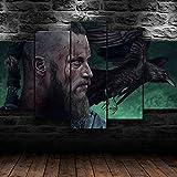 Decoración De Arte De Pared 5 Piezas Imprime En Lienzo Programa De Televisión De Irlanda HD Cuadro Estilo Abstractos Moderna Inicio Decoración Lienzos Listo para Colgar(con Marco)