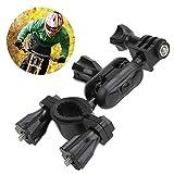 Mugast 自転車マウント 360度回転 ハンドルバーマウント カメラのスタンド ホルダーブラケット 高耐久性 拡張アダプターアクセサリー アクションカメラ対応