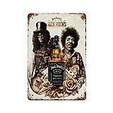 Jack Daniels Whiskey (2) Vintage Blechschild Kunst Eisen
