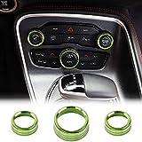 SDGH Aleación de Aluminio Aire Acondicionado Interruptor CD Botón Knob Adecuado para Dodge Challenger Charger Chrysler 300 300s 2015-2020 Adecuado para RAM 2013-2018,Verde