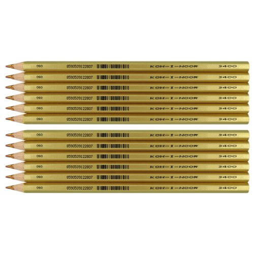 Koh-i-noor Aristochrom Magic - 12 Pencils with Special Multicoloured Lead. 3400