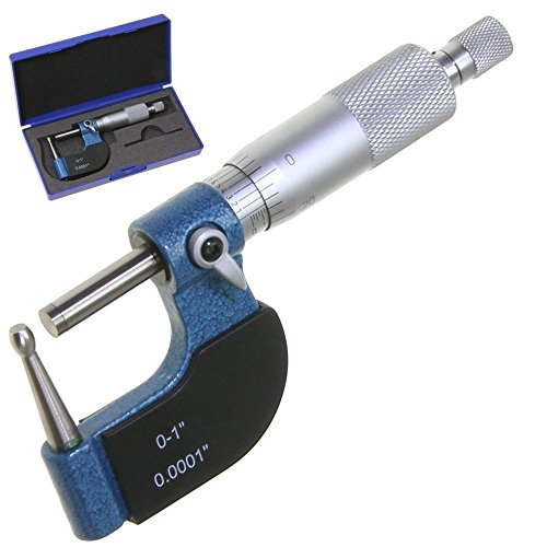 """Anytime Tools Tube Micrometer Reloading Ball Spherical Anvil Case Thickness 0-1""""/0.0001"""""""