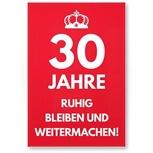 Bedankt! 30 jaar, rustig blijven - cadeau 30e verjaardag, cadeau-idee verjaardagscadeau driemisten, verjaardagsdeco/partydeco/partyaccessoires/verjaardagskaart