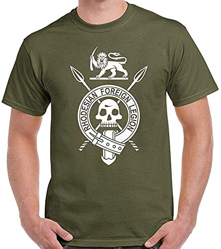 Summer Cotton tee Shirt Rhodesian Foreign Legion T Shirt - Light Infantry Rli Rhodesia - Fashion T-Shirt Army Green