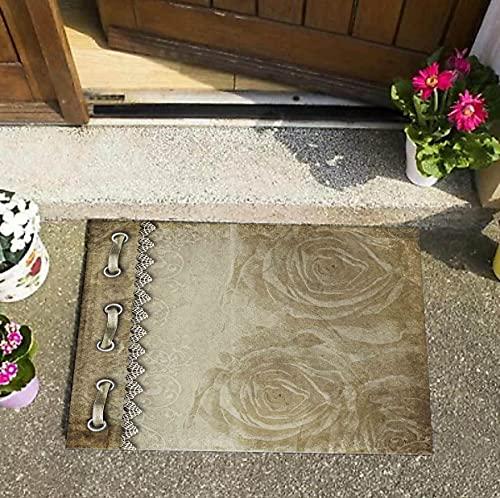 Atlas 568 - Felpudo moderno, decoración del hogar, alfombrilla para puerta delantera, alfombrilla para puerta, antideslizante, 50 x 70 cm