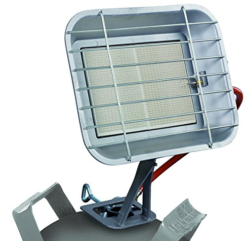 Einhell Radiatore a Gas GS 4600 P (riscaldamento di potenza fino a 4,6 kW, con accensione Piezo, con riduttore di pressione, tubo, regolatore, per bombole di Gas comuni)