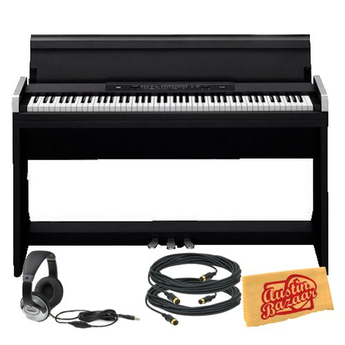 Find Bargain Korg LP350 Digital Piano Bundle with Two 10-Foot MIDI Cables, Headphones, and Polishing...