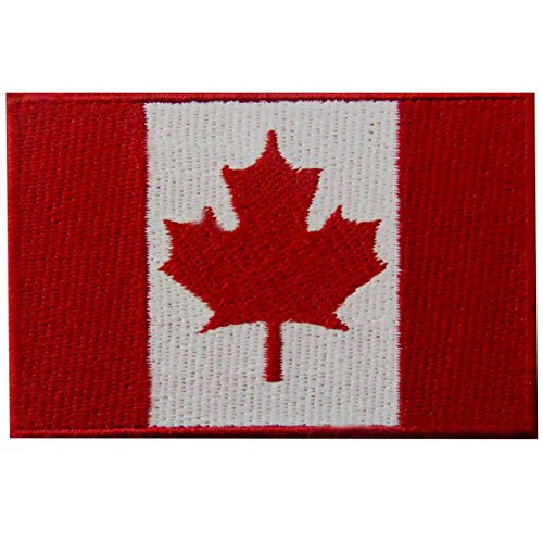 Kanada-Flagge Kanadisches Ahornblatt Nationales Emblem Bestickter Aufnäher zum Aufbügeln/Annähen