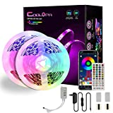 Striscia LED 10M , COOLAPA Impermeabile IP65 Bluetooth LED Strisce con 300 LEDs, RGB 5050, Funzione Musicale, Smart Controllo APP e Telecomando IR 40 tasti. [Classe di efficienza energetica A++]