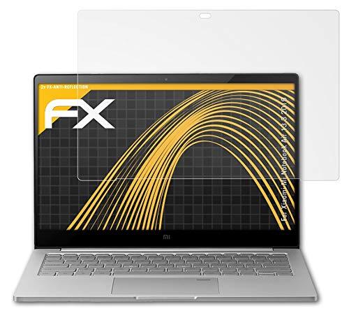 atFoliX Película Protectora Compatible con Xiaomi Mi Notebook Air 13.3 2019 Lámina Protectora de Pantalla, antirreflejos y amortiguadores FX Protector Película (2X)