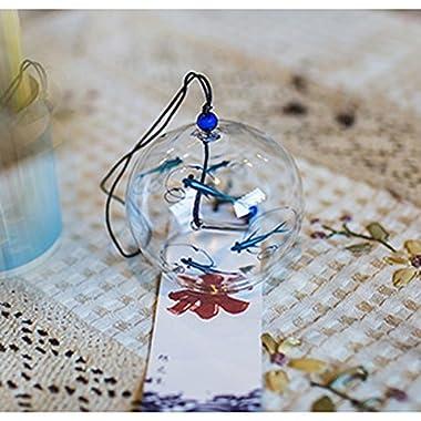 Japanese Wind Bell Wind Chimes Handmade Glass Furin-Bluefish