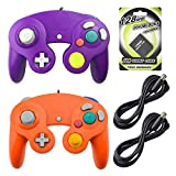 AreMe 2 Packs Game Cube Controllers with 2 Extension Cables and 128mb Memory