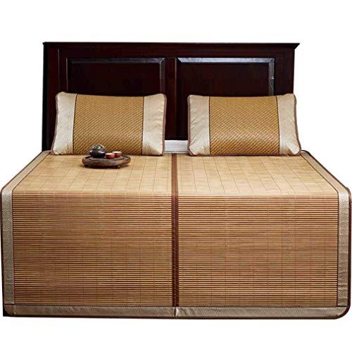 Kyman Sommer Schlafmatte, beidseitig Rattan Sitze Glatte faltbares Luftanlage Matte, 1.2 * 1.95m (Size : 1.5 * 1.95m)