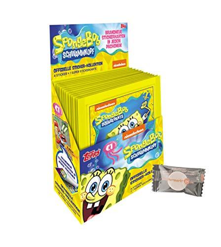 XX Spongebob Sticker (2020) - Sammelsticker & Stickercards - 1 Display (30 Tüten) + stickermarkt24de Gum