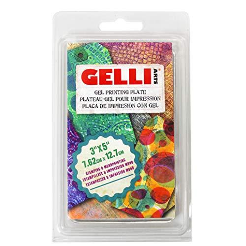 Gelli Arts Druck Teller, Mehrfarbig, 3 x 5-inch