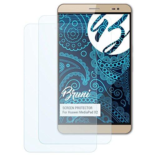 Bruni Schutzfolie kompatibel mit Huawei MediaPad X2 Folie, glasklare Displayschutzfolie (2X)