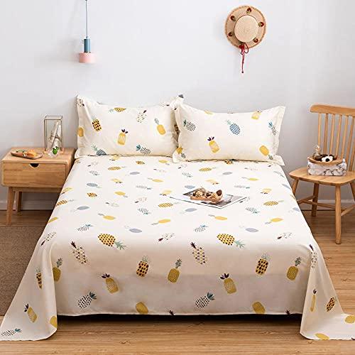 DSman Protector de colchón/Cubre colchón Acolchado, antiácaros, Impresión de algodón Sarga simple-22_180 * 200cm