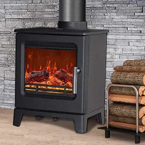 Thick Iron Wood Burners Movable Iron Wood Burning Stove Ashtray, Stove with Log Store