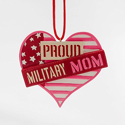 Enesco Ornamentmefront Girls Proud Military Mom Ornament 0.3 IN