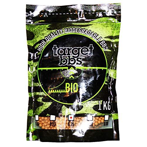 Target Billes Airsoft biodégradable Marron 0,25 grammes (4000 granulés), Paquet de 1 Kilogramme