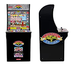 """3/4 scale of classic arcade cabinets! Dimensions: 45.8"""" H x 22.75"""" H x 19"""" W. Weight: 58.5lbs 3 games in 1 (Street Fighter ll champion Edition, Street Fighter ll the new challengers, Street Fighter ll turbo) 17"""" Color LCD screen. Real-feel arcade con..."""