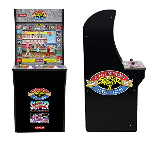 """3/4 Scale Of Classic Arcade Cabinets! Dimensions: 45.8"""" H X 22.75"""" H X 19"""" W. Weight: 58.5Lbs 3 Games In 1 (Street Fighter Ll Champion Edition, Street Fighter Ll The New Challengers, Street Fighter Ll Turbo) 17&Quot; Color Lcd Screen. Realfeel Arcade Con..."""