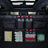 JAP768 1pc Auto-Kofferraum Organizer Einstellbare Backseat Speicher-Beutel-Net High Capacity Multi-Use Oxford Autositzrückseiten Veranstalter Universal- (Farbe : Black with Pocket)
